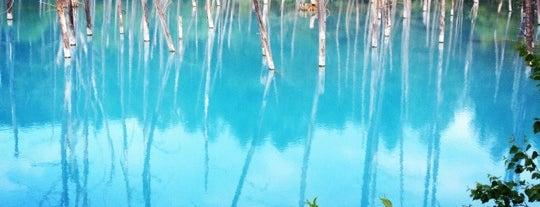 Blue Pond is one of Hokkaido.