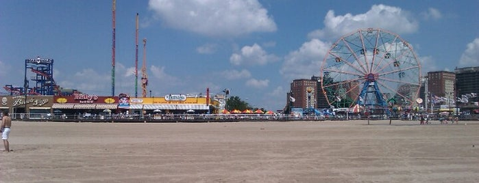 Coney Island Beach & Boardwalk is one of New York City Tourists' Hits.