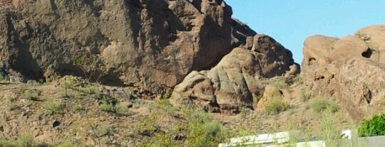 Camelback Mountain is one of PHX.