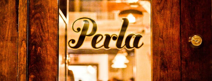 Perla Cafe is one of The New Yorker's About Town Badge. (Tested).