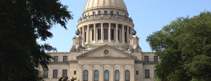 Mississippi State Capitol is one of The Crowe Footsteps.