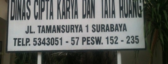 Dinas Cipta Karya dan Tata Ruang Kota Surabaya is one of Government of Surabaya and East Java.