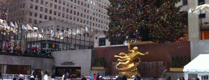 The Rink at Rockefeller Center is one of JT.