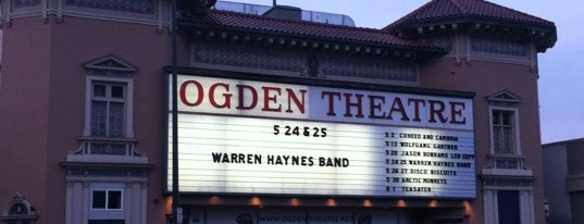 Ogden Theatre is one of Must-visit Music Venues in Denver.