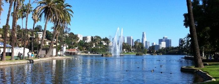 Echo Park Lake is one of I love LA...we LOVE IT!.