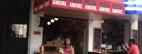 Pizza Amore is one of Barriga llena, Corazon contento. Mexico City.