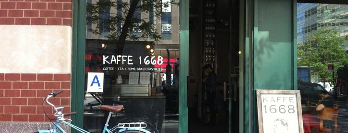 Kaffe 1668 is one of Manhattan Coffee Shops Worth a Vist.