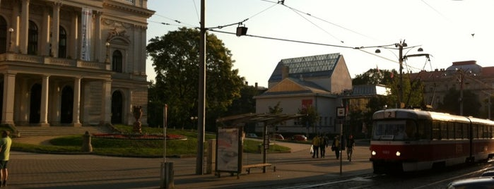 Malinovského náměstí (tram, bus) is one of Davidさんのお気に入りスポット.