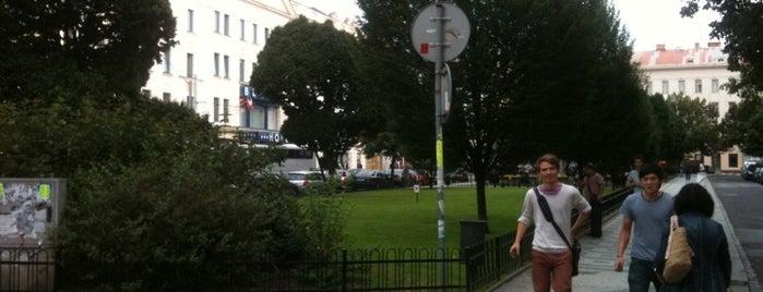 Tylovo náměstí is one of Favorite affordable date spots.