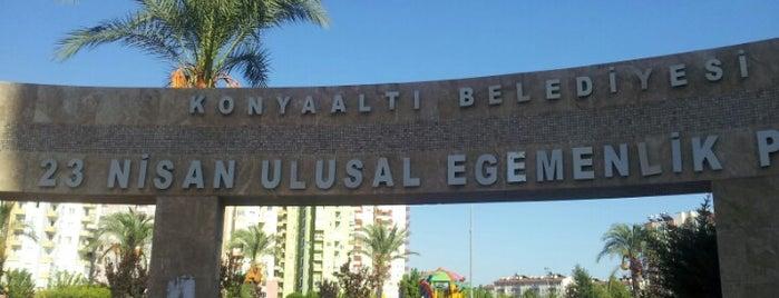 23 Nisan Ulusal Egemenlik Parkı is one of Antalya genel gezilir.