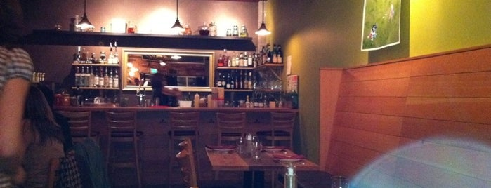 Portobello Vegan Trattoria is one of Places w/ nice vegetarian food.