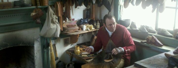 Shoemaker is one of Colonial Williamsburg.