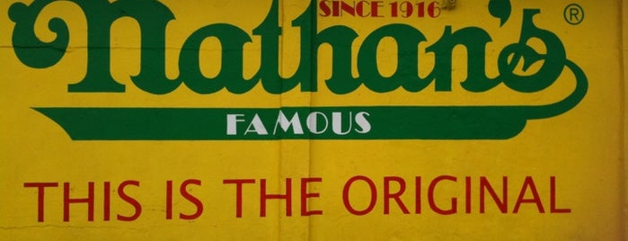 Nathan's Famous is one of NY To Do.