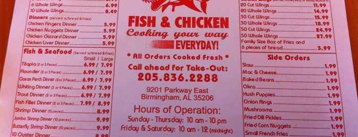 Sharks Fish & Chicken is one of Birmingham Restaurants.