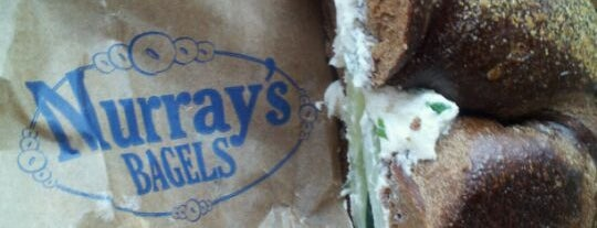 Murray's Bagels is one of NYC's Greenwich Village.