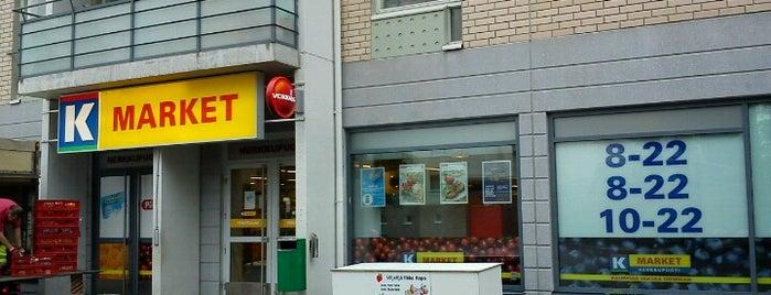 K-market Herkkupuoti is one of สถานที่ที่ Hannes ถูกใจ.