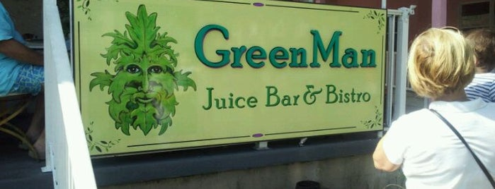 GreenMan Juice Bar & Bistro is one of Posti salvati di Rachel.