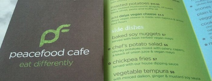 Peacefood Cafe is one of Vegetarian Stuff.