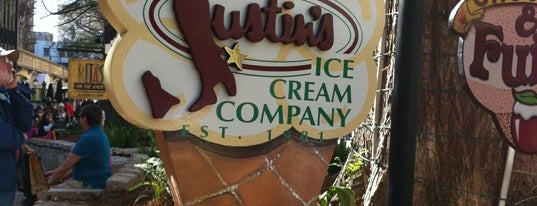 Justin's Ice Cream Company is one of Outside-of-Austin Traveler.