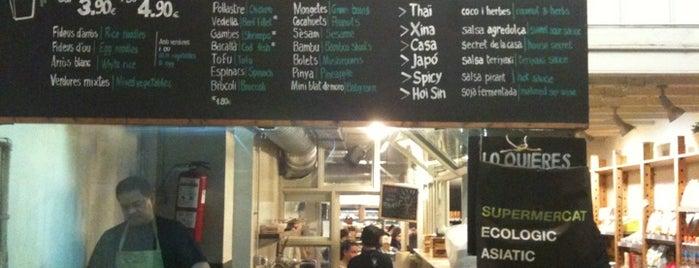 Woki Organic Market - Gracia is one of Cheap Eats Barcelona 5-10€.