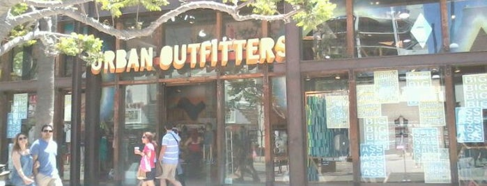 Urban Outfitters is one of Santa Monica.