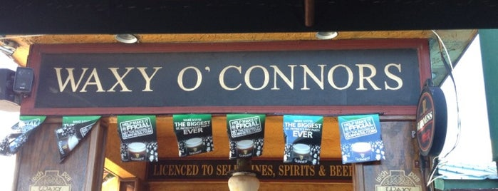 Waxy O'Connor's is one of 20 favorite restaurants.