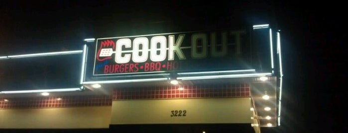 Cook Out is one of Favorite eateries.