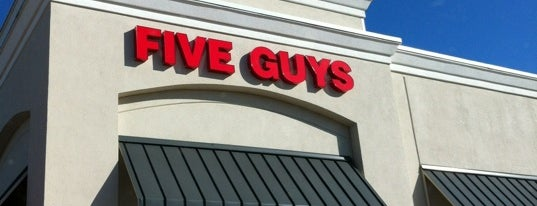 Five Guys is one of Cynthia 님이 좋아한 장소.