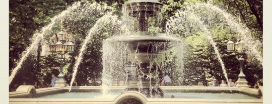 City Hall Park Fountain is one of NYC TriBeCa.
