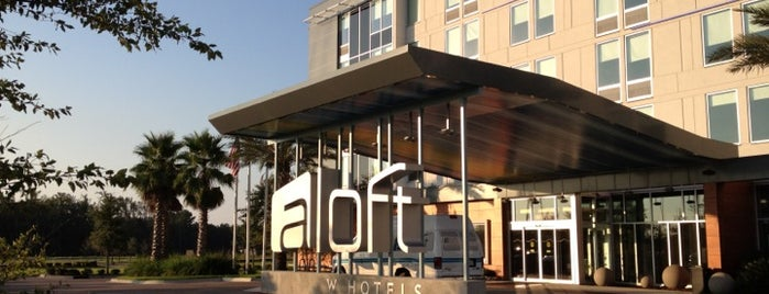 Aloft Jacksonville Airport is one of Places to take my hubby.