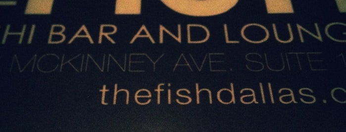 The Fish Restaurant and Sushi Bar is one of My favorite Dallas Libationaries....