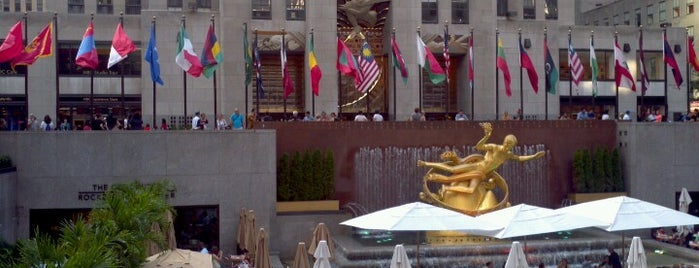Rockefeller Plaza is one of New York City Tourists' Hits.