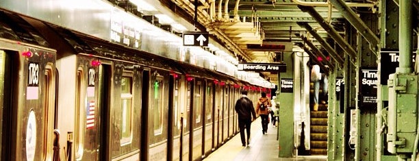 MTA Subway - 42nd St/Times Square/Port Authority Bus Terminal (A/C/E/N/Q/R/W/S/1/2/3/7) is one of IRT Flushing Line (7) <7>.