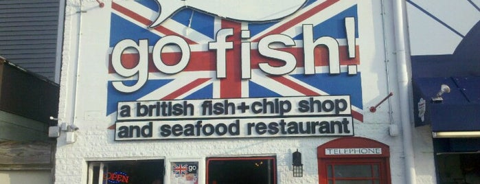 go fish! a british fish + chip shop is one of The Delaware Beaches.