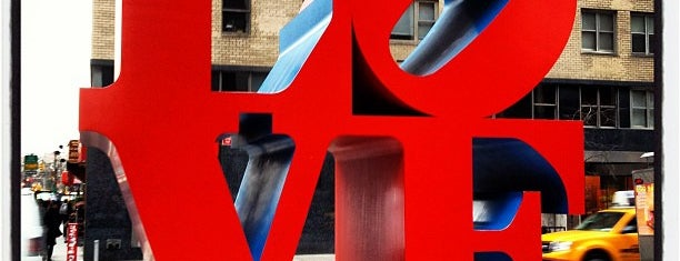 LOVE Sculpture by Robert Indiana is one of Family Visits NYC.