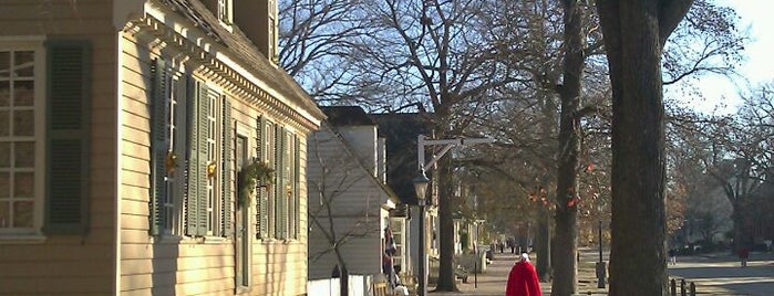 Duke of Gloucester St is one of Colonial Williamsburg.