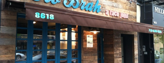 Ho' Brah Taco Joint is one of want to go eat.