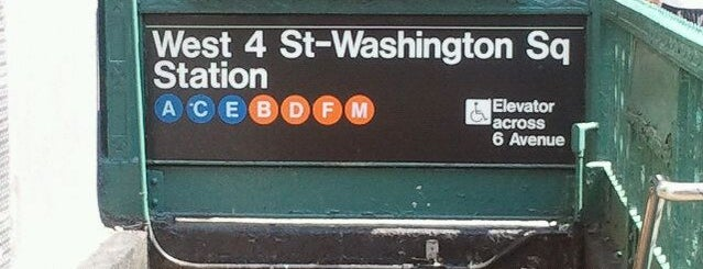 MTA Subway - W 4th Street/Washington Square (A/B/C/D/E/F/M) is one of สถานที่ที่ David ถูกใจ.
