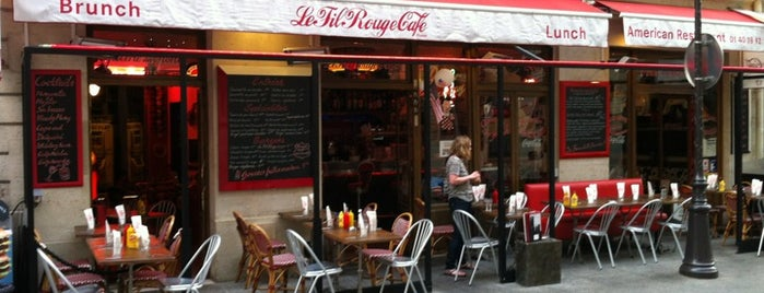 Le Fil Rouge Café is one of BEST BURGERS IN PARIS.