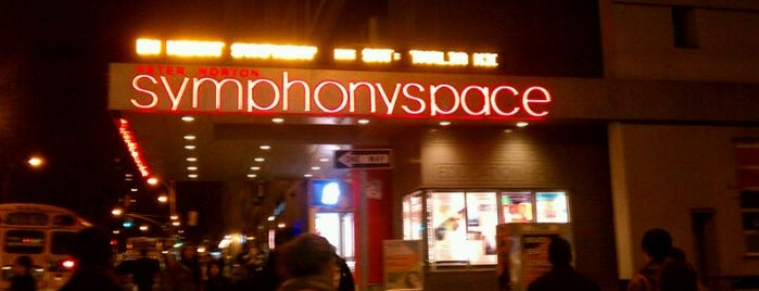 Symphony Space is one of Music NYC.