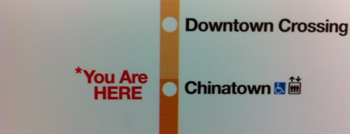 MBTA Chinatown Station is one of Downtown Boston, Chinatown & North End.