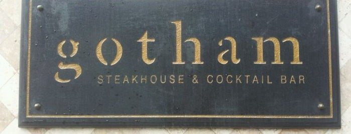Gotham Steakhouse & Cocktail Bar is one of Favourites.