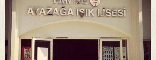 FMV Ayazağa Işık Lisesi is one of Tempat yang Disukai Caglar.