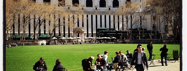 Bryant Park is one of The New Yorker's About Town.
