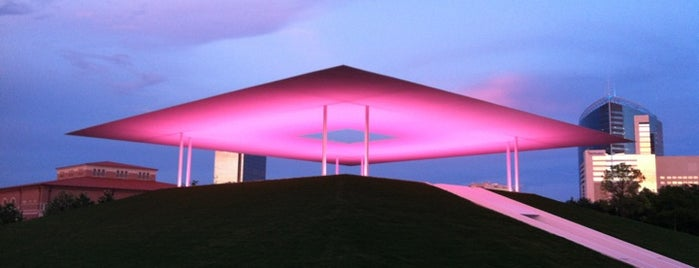 James Turrell Skyspace at Rice University is one of James Turrell World Tour.
