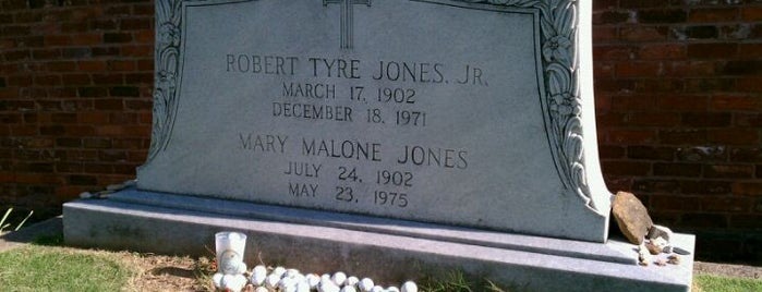 Oakland Cemetery is one of The Legacy of Bobby Jones.