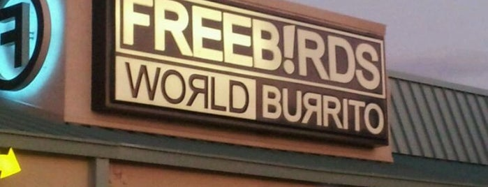 Freebirds World Burrito is one of Places w/ nice vegetarian food.