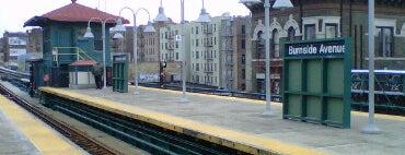 MTA Subway - Burnside Ave (4) is one of Trainspotter Badge.