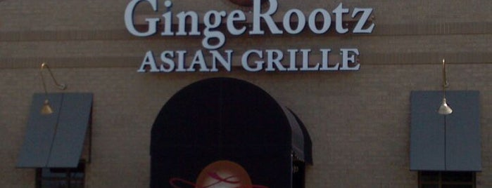 GingeRootz Asian Grille is one of Client Dining.
