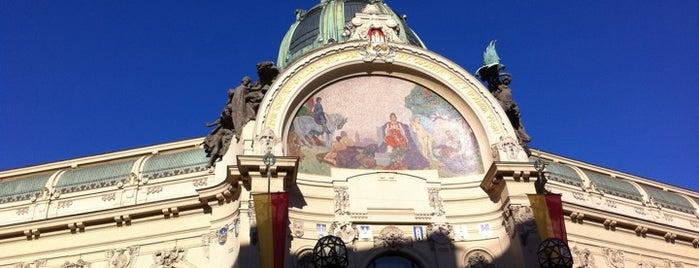 Obecní dům is one of Prague.